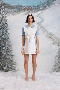 Hunters in the Snow dress, Azurite