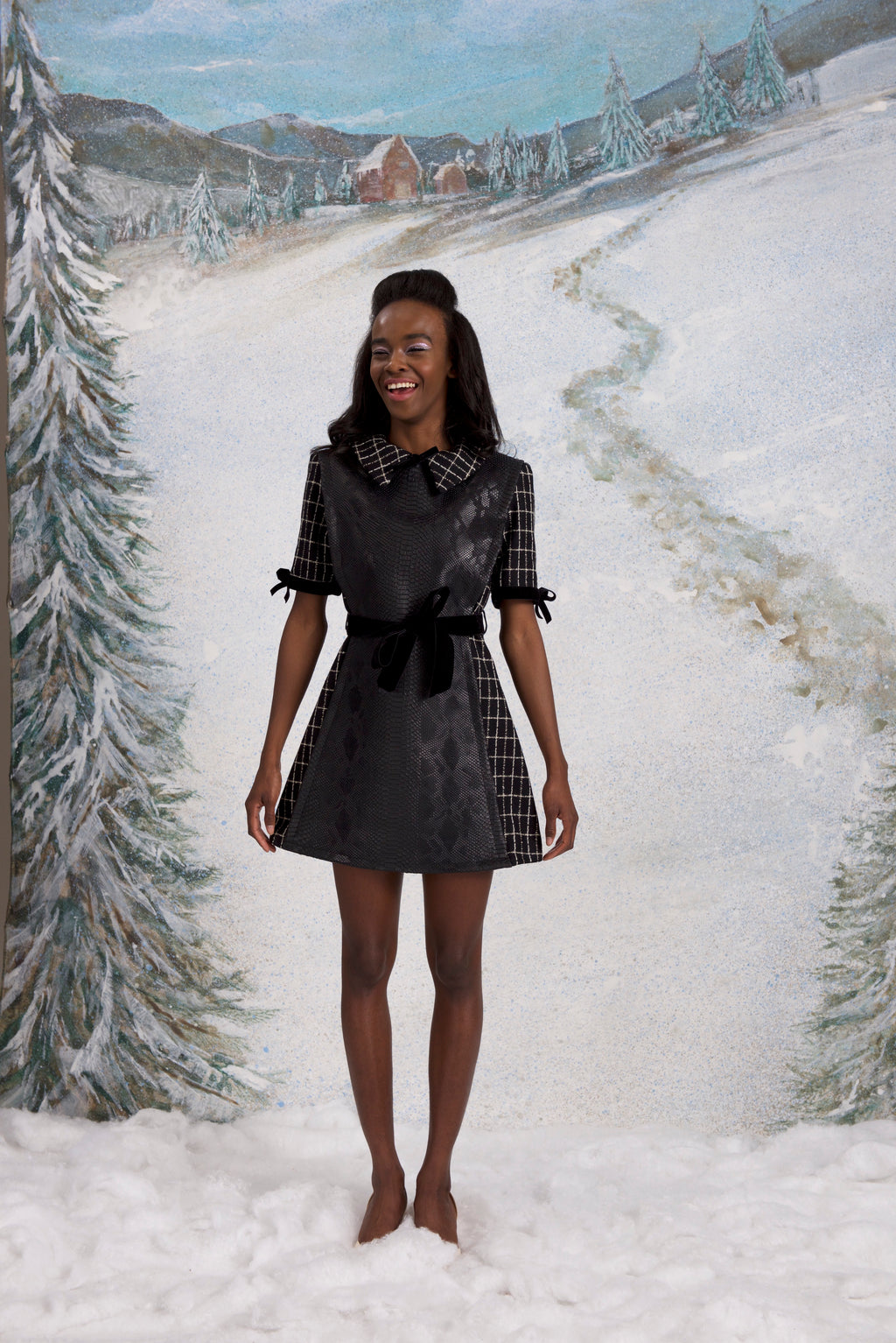 Hunters in the Snow dress, Carbon Black