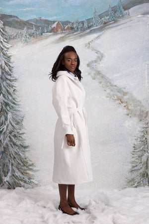 Winterlandschaft coat, Lead White