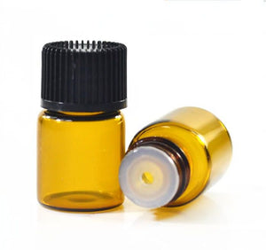 2ml Amber Glass Bottle with Dripolator (bulk buys 6 or 12)