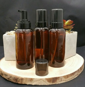 375ml Amber Bottle with Foaming Pump