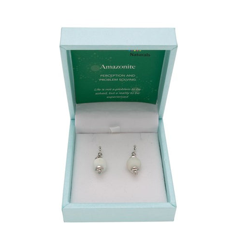 Amazonite Naturals Drop Earring