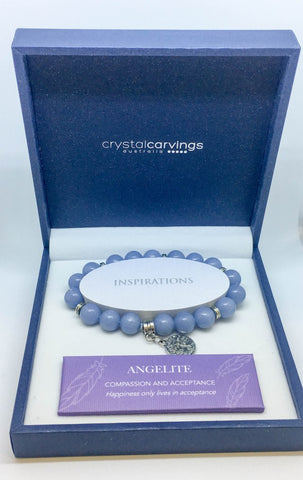 Angelite Tree of Life Bracelet