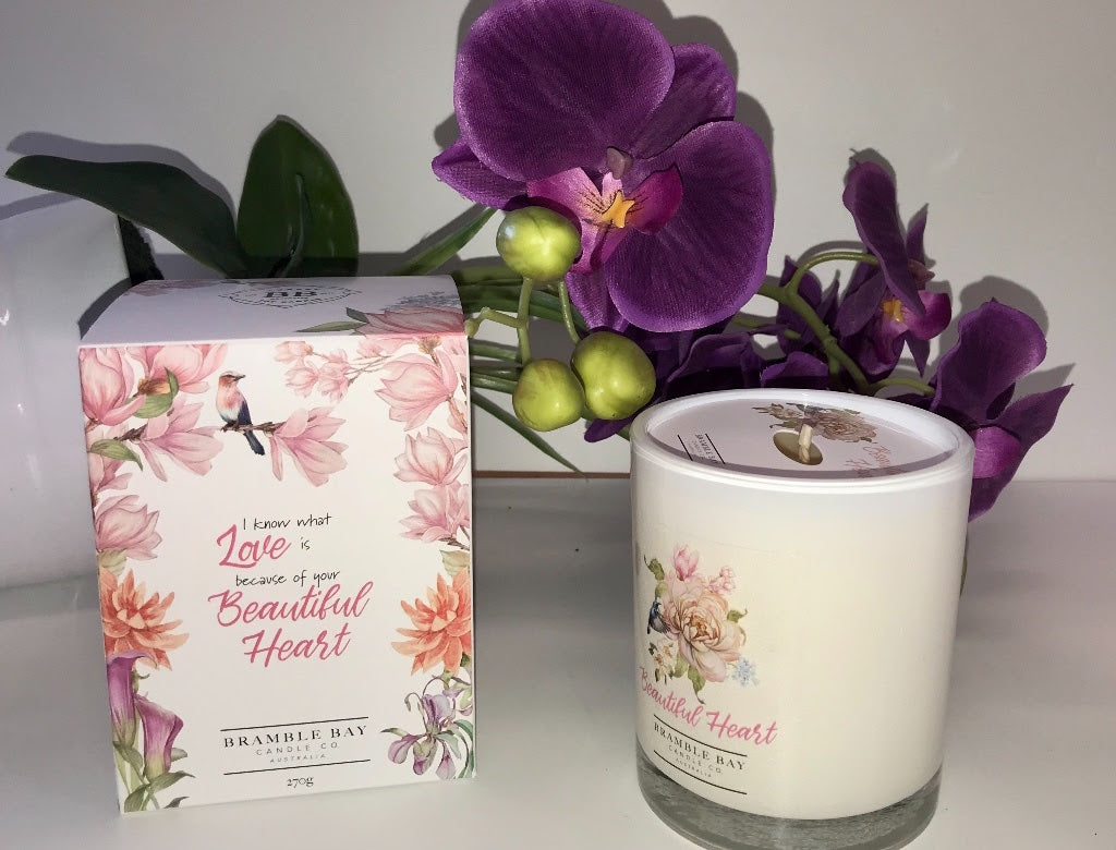 """Beautiful Heart""  - Soy Candle"