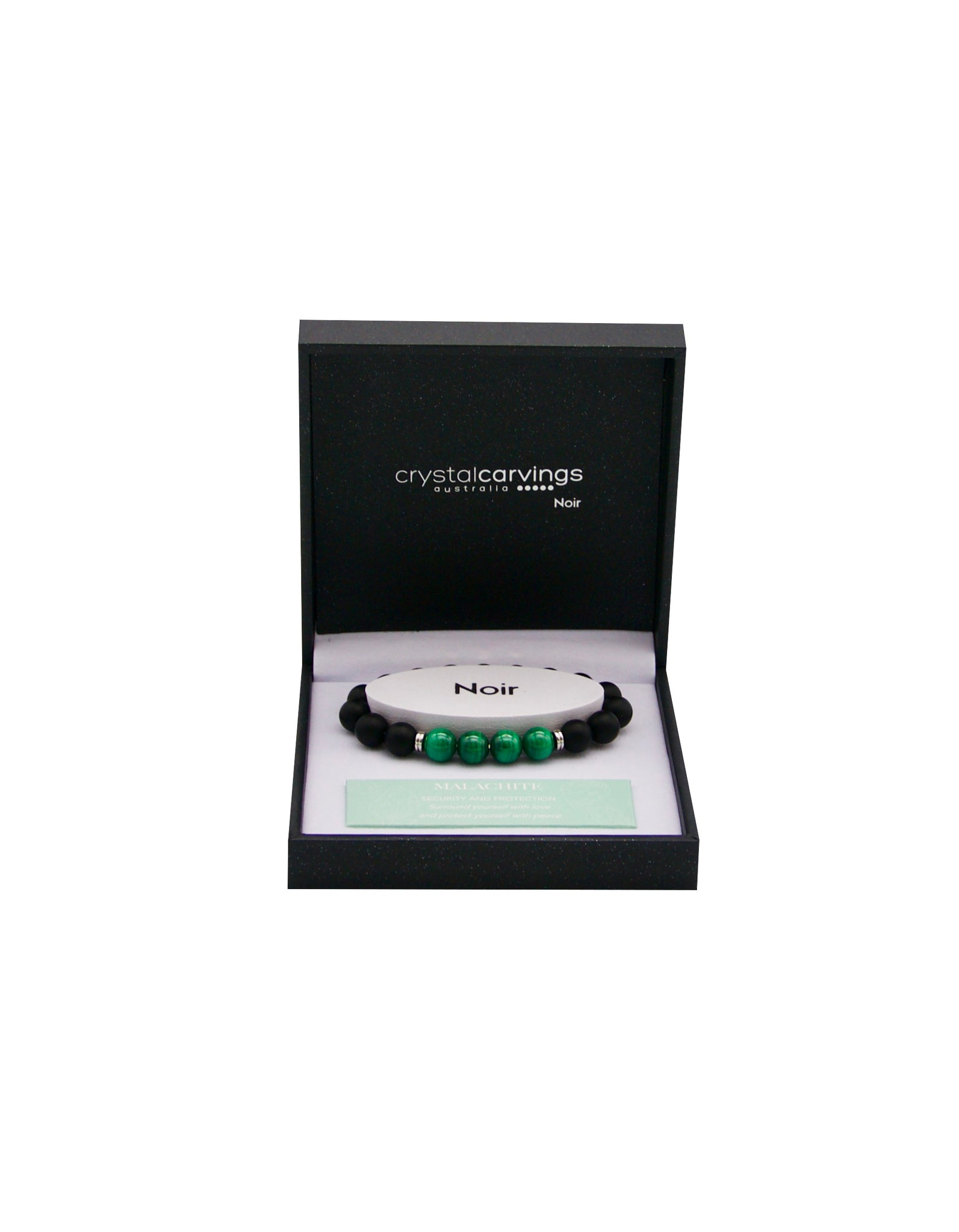Black Agate/Malachite Bracelet