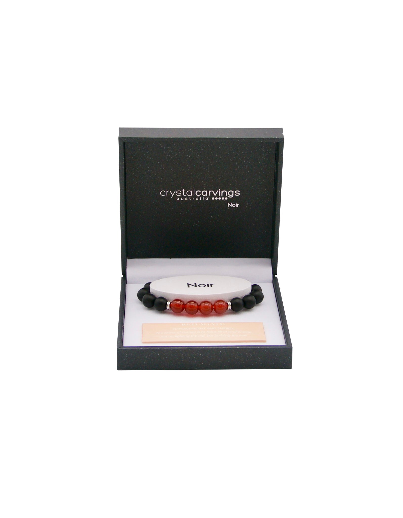 Black Agate/Red Agate Bracelet