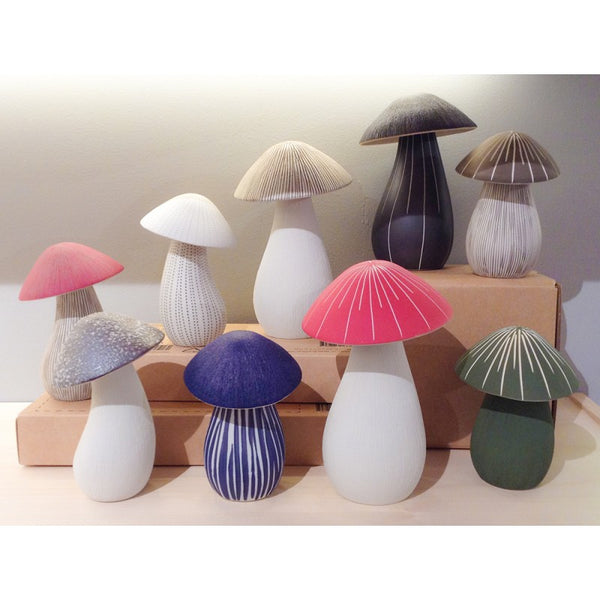 Mushroom Ceramic Scent Diffuser - Large Red
