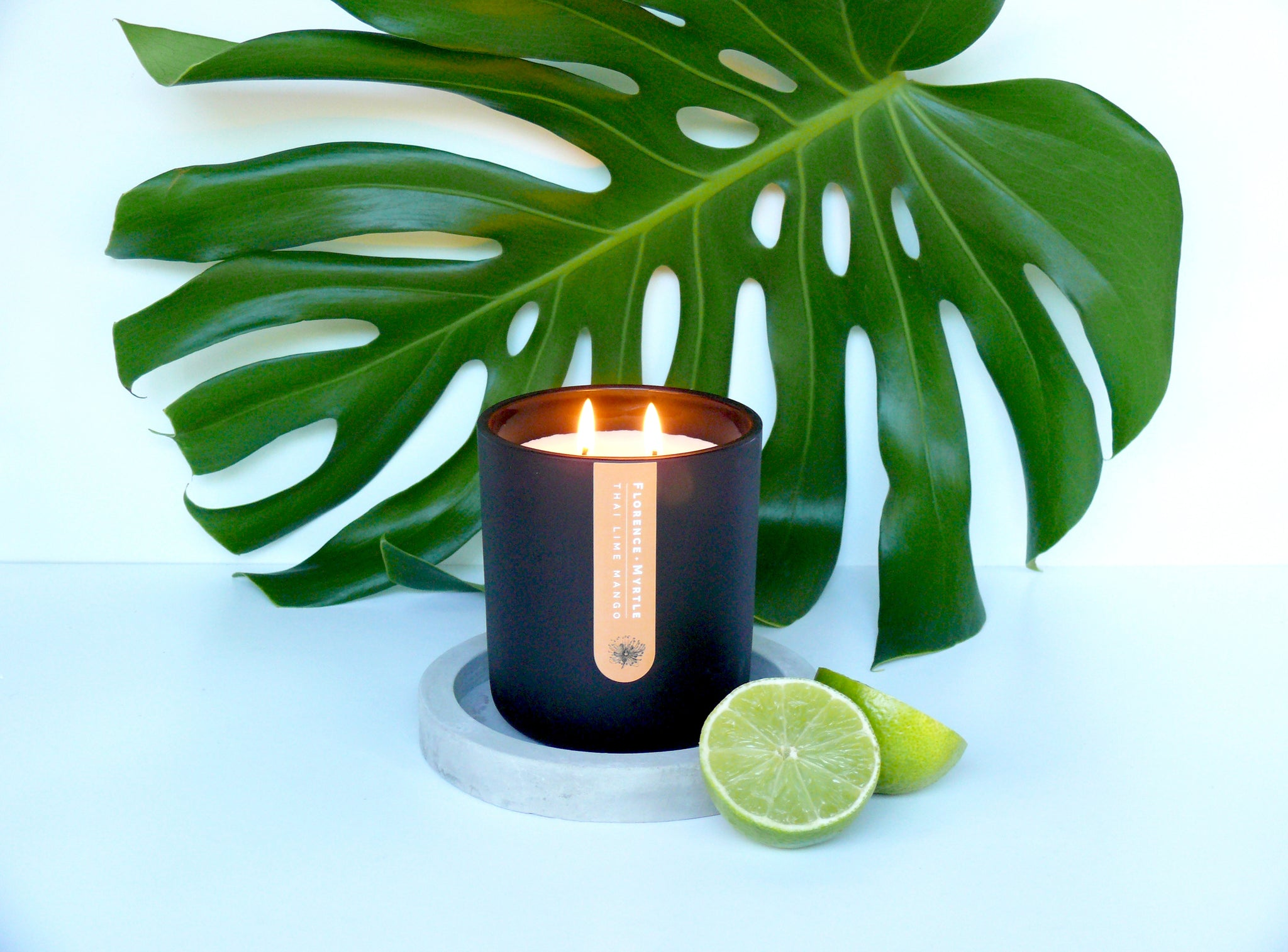 Thai Lime Mango Soy Candle (Black)