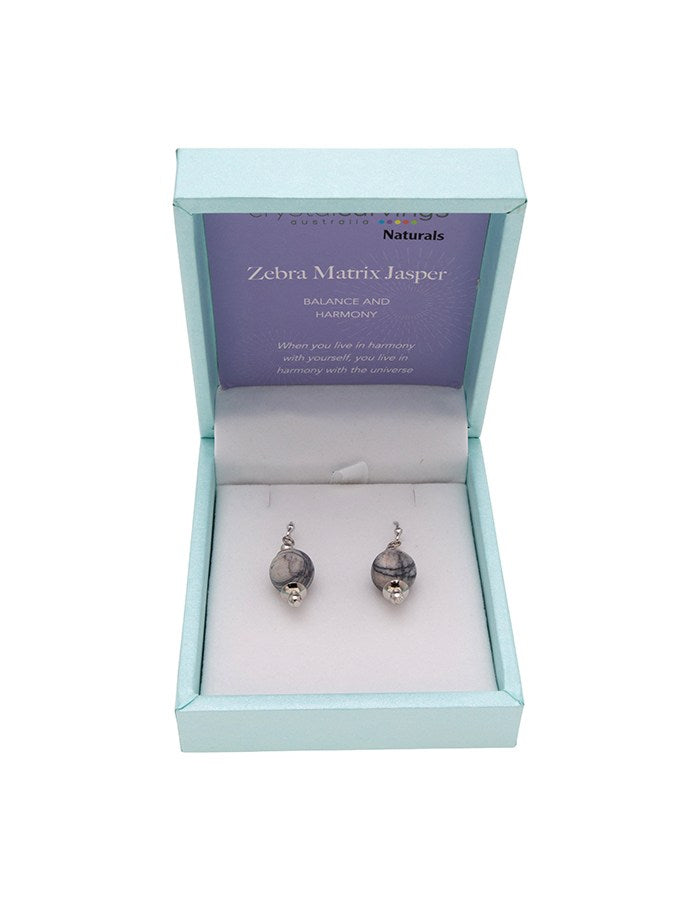 Zebra Matrix Naturals Drop Earring