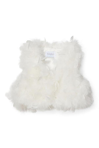 Farah Fur Vest in Lucy White