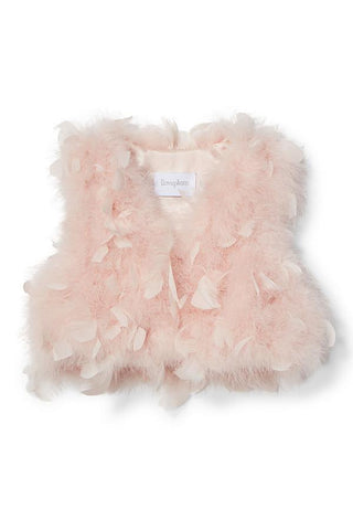 Farah Fur Vest in Shirley Pink
