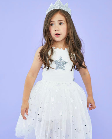 The Silver Sparkle Tutu Dress