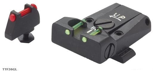 LPA SIGHTS - Adj. F/O Sight Set Glock17-32 New D-Tail - SKU: LPATTF36GL