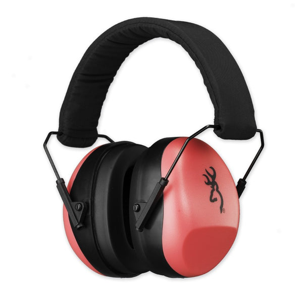 Browning Buckmark II Ear Muffs Pink (26db) - SKU: 12687, 50-100, Amazon, browning, earmuffs-ear-plugs, ebay, Shooting-Gear