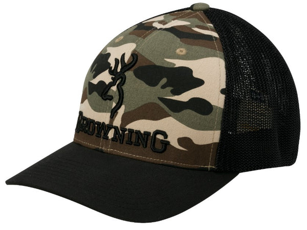 Browning Branded Cap Camo S/M - SKU: 308375292, Amazon, Apparel, browning, ebay, headwear, Size-, under-50