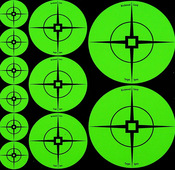 BIRCHWOOD CASEY TargetSpots Green Mix - 10 Sheets - SKU: BW33938, Amazon, birchwood-casey, ebay, paper-targets, Shooting-Gear, Targets-Target-Holders, under-50