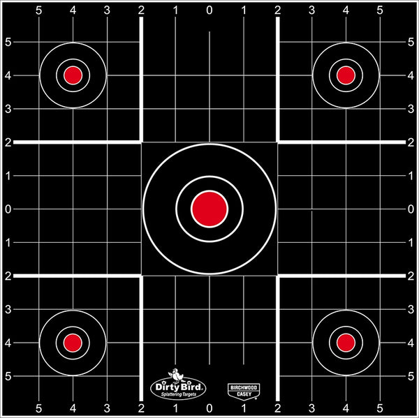BIRCHWOOD CASEY DirtyBird 12IN Sight In - 12 Sheets - SKU: BW35212, Amazon, birchwood-casey, ebay, paper-targets, Shooting-Gear, Targets-Target-Holders, under-50