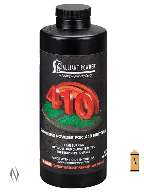 ALLIANT 410 1LB .454KG - SKU: 410-1, 50-100, alliant, Components, propellant-powder, Reloading-Supplies