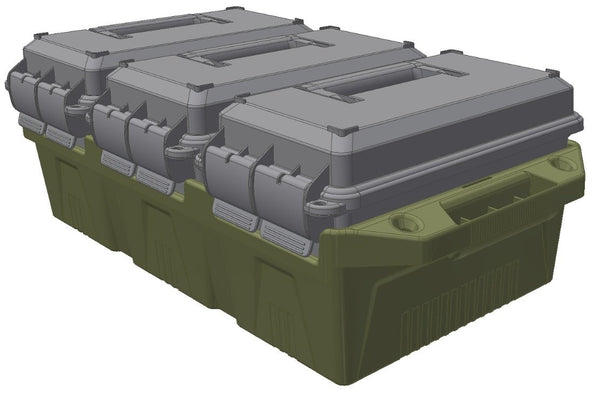 MTM - 3-can ammo crate for 50cal Ammo cans - SKU: AC3C, 100-200, ammo-cans-dry-boxes, ebay, mtm, Shooting-Gear