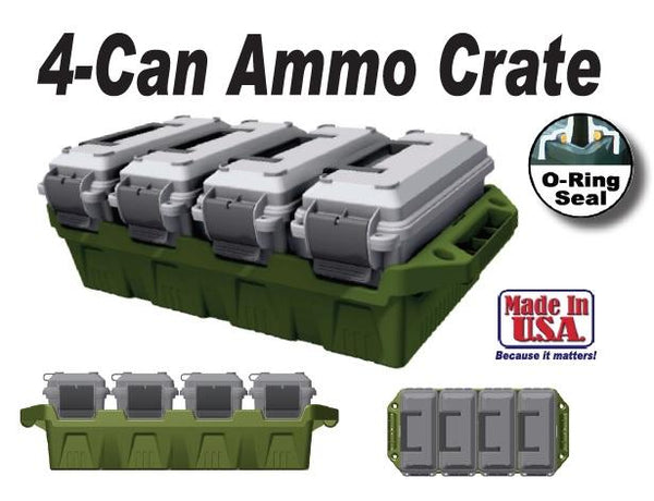 MTM - 4 Can Ammo Crate - SKU: AC4C, 100-200, ammo-cans-dry-boxes, ebay, mtm, Shooting-Gear