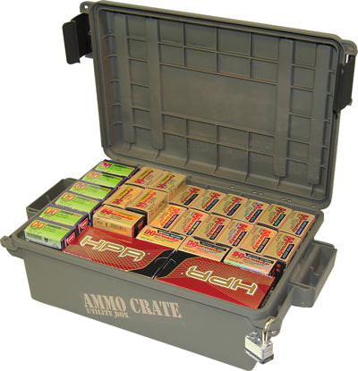 MTM - Ammo Crate Utility Box - 570 Army Green - SKU: ACR4-18, 50-100, ammo-cans-dry-boxes, ebay, mtm, Shooting-Gear