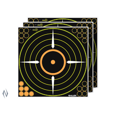 ALLEN EZ AIM SPLASH ADHESIVE 12 inch BULLSEYE TARGET 5PK - SKU: AL15222, allen, Amazon, ebay, paper-targets, Shooting-Gear, Targets-Target-Holders, under-50