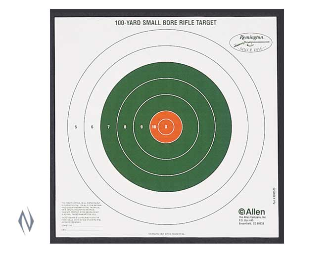 ALLEN REMINGTON BULLSEYE 100 YARD SIGHT IN TARGET 12PK - SKU: AL1523, allen, Allen Amazon, ebay, paper-targets, Shooting-Gear, Targets-Target-Holders, under-50