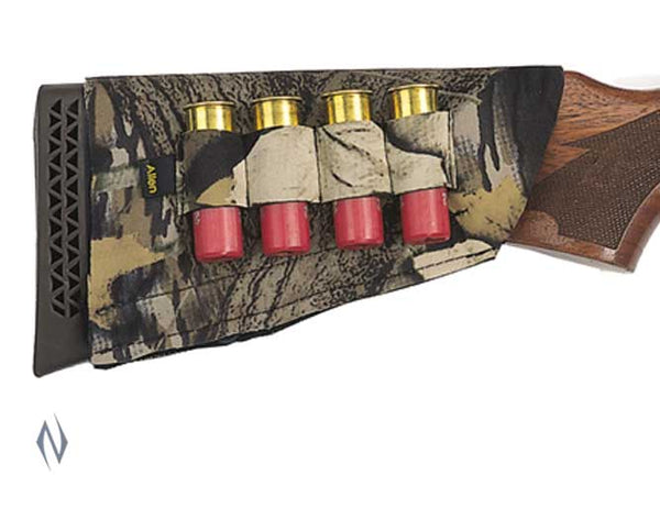 ALLEN SHOTGUN BUTT STOCK 4 SHELL HOLDER CAMO - SKU: AL20143