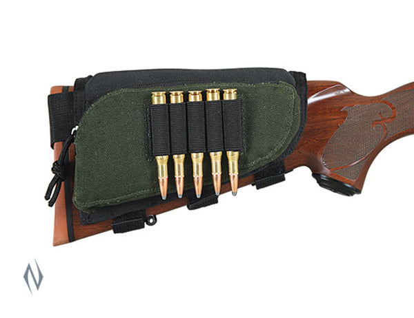 ALLEN BUTT STOCK RIFLE SHELL HOLDER VELCRO W/ZIP POCKET - SKU: AL20550