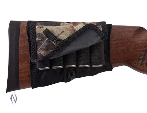 ALLEN BUTT STOCK SHOTGUN HOLDER CAMO WITH FLAP - SKU: AL2059