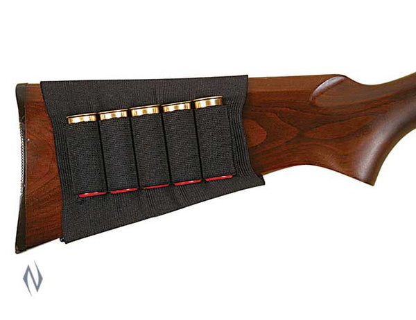 ALLEN SHOTGUN BUTT STOCK SHELL HOLDER BLACK 5 RND - SKU: AL205