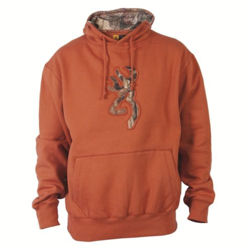 Browning Youth Buckmark Camo Hoodie Orange S - SKU: BRI8350.330.S - Size: Small, Amazon, Apparel, browning, ebay, size-small, sweaters, under-50