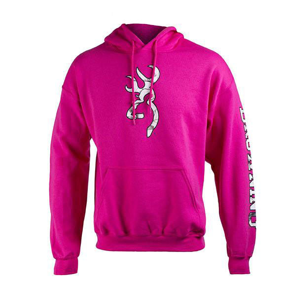 Browning Two Hit Hoodie Fuchsia - Medium - SKU: BTHHFM - Size: Medium, 50-100, Amazon, Apparel, browning, ebay, size-medium, sweaters