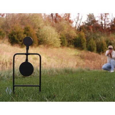 CALDWELL DOUBLE SPIN 44MAG PISTOL TARGET - SKU: CALD-DS44M, 50-100, Amazon, caldwell, ebay, metal-targets, Shooting-Gear, Targets-Target-Holders