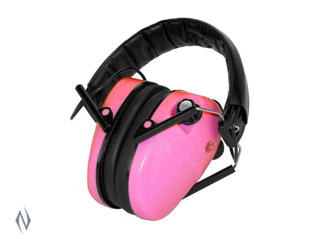 CALDWELL LOW PROFILE PINK ELECTRONIC EAR MUFFS - SKU: CALD-ELPP, 50-100, Amazon, earmuffs-ear-plugs, ebay, safari-firearms, Shooting-Gear