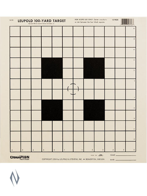 CHAMPION TARGET NRA 100YD SIGHT IN 12 PACK - SKU: CH40746
