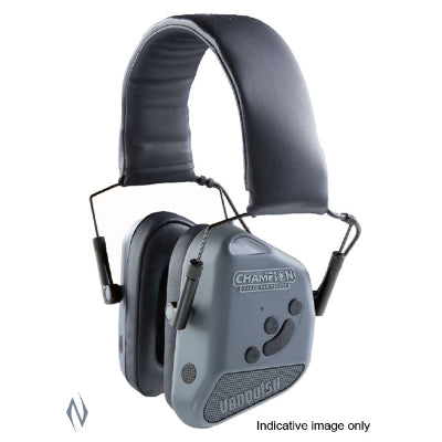 CHAMPION EAR MUFFS ELECTRONIC VANQUISH BLUETOOTH GREY - SKU: CH40980, 200-500, Amazon, champion, earmuffs-ear-plugs, ebay, Shooting-Gear