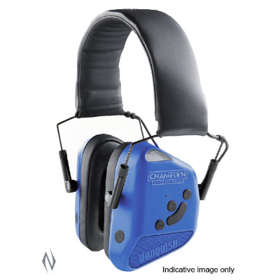 CHAMPION EAR MUFFS ELECTRONIC VANQUISH BLUETOOTH BLUE - SKU: CH40981, 200-500, Amazon, champion, earmuffs-ear-plugs, ebay, Shooting-Gear