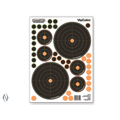 CHAMPION TARGET VISICOLOR ADHESIVE BULLSEYE SIGHT IN 50YD + PATCHES - SKU: CH46138, Amazon, champion, ebay, paper-targets, Shooting-Gear, Targets-Target-Holders, under-50