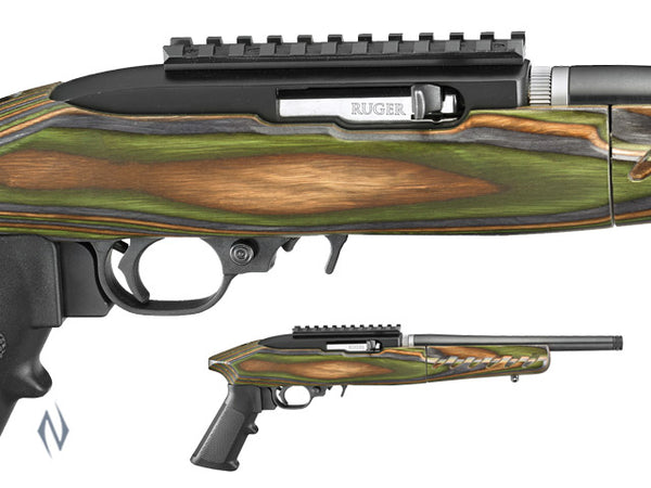 RUGER CHARGER 22LR BLUE TB TAKEDOWN GREEN LAMINATED - SKU: CHARGERTD a  from RUGER sold by the best firearms store in Australia - Safari Firearms