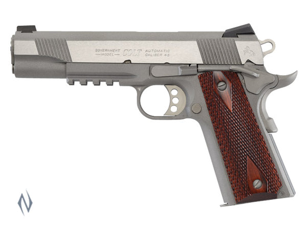 COLT RAIL GUN STAINLESS 45 ACP 127MM - SKU: CO1070RG a  from COLT sold by the best firearms store in Australia - Safari Firearms