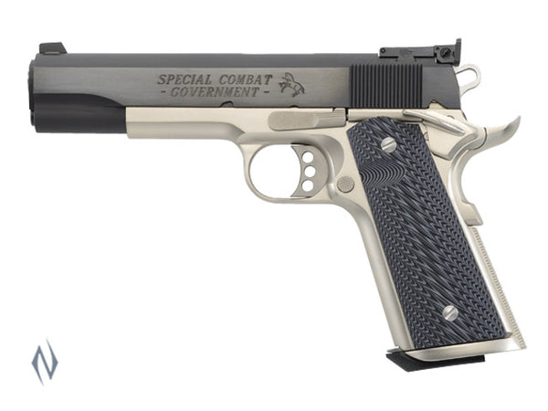 COLT SPEC COMBAT BLUE/NICKEL 38 SUPER 127MM - SKU: CO2580CM a  from COLT sold by the best firearms store in Australia - Safari Firearms