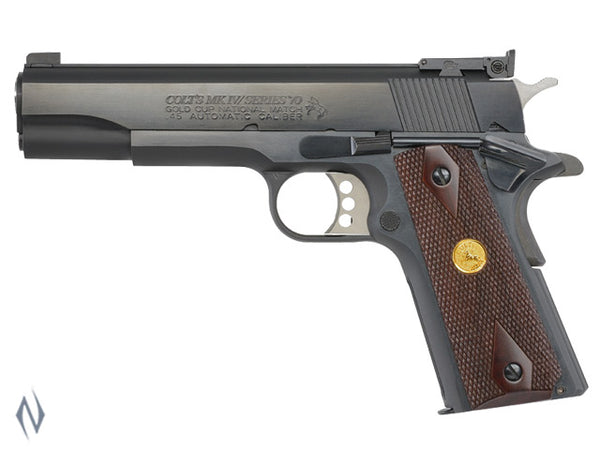 COLT SERIES 70 GOLD CUP NM BLUED 45 ACP 127MM - SKU: CO5870A1 a  from COLT sold by the best firearms store in Australia - Safari Firearms
