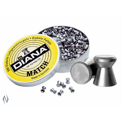 DIANA MATCH 177 AIR PELLETS 500 PK - SKU: DIM177, air-gun-pellets, Ammunition, diana, under-50