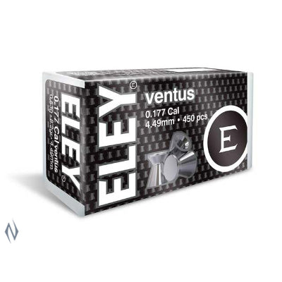 ELEY VENTUS 177 4.49MM AIR PELLETS 450 PK - SKU: EL177449, air-gun-pellets, Ammunition, eley, under-50
