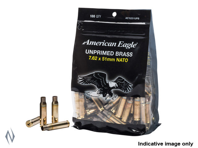 FEDERAL AE UNPRIMED BRASS 308 WIN / 7.62X51 100 PACK - SKU: FAE76251UPB, 50-100, Components, Reloading-Supplies, safari-firearms, unprimed-cases