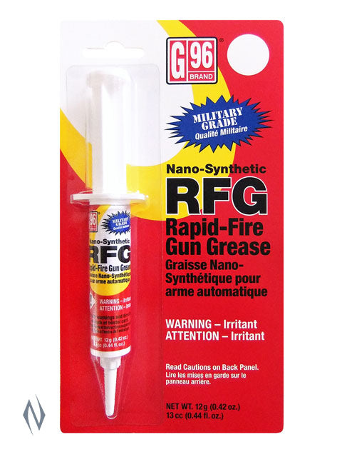 G96 RFG GREASE IN SYRINGE 13ML - SKU: G96-1043 a  from G96 sold by the best firearms store in Australia - Safari Firearms