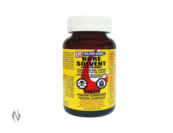 G96 BORE SOLVENT MILITARY 4OZ - SKU: G96-1108 a  from G96 sold by the best firearms store in Australia - Safari Firearms