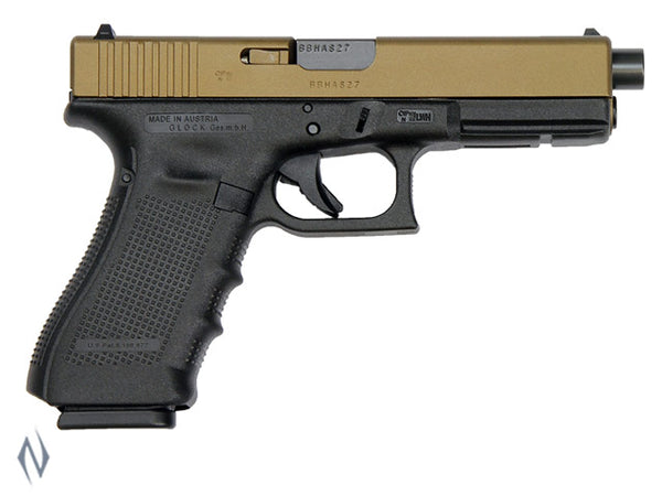 GLOCK 17A 9MM FULL SIZE 10 SHOT GEN4 122MM BURNT BRONZE CERAKOTE - SKU: GLOCK17AG4BB a  from GLOCK sold by the best firearms store in Australia - Safari Firearms
