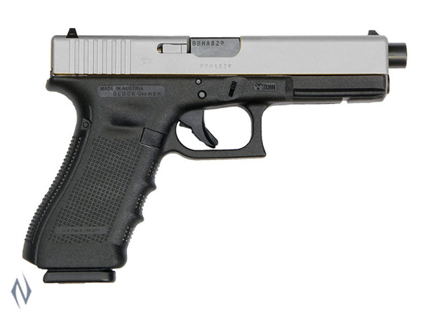 GLOCK 17A 9MM FULL SIZE 10 SHOT GEN4 122MM STAINLESS CERAKOTE - SKU: GLOCK17AG4STS